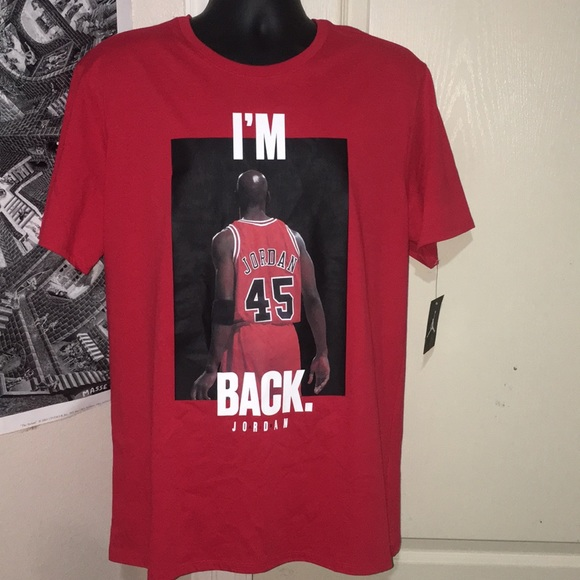 4f6e5c4fd91708 Air Jordan Red Black White  45 Comeback Shirt